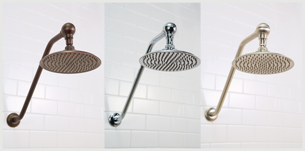 LIQUID ACCENTS Rain Shower Heads